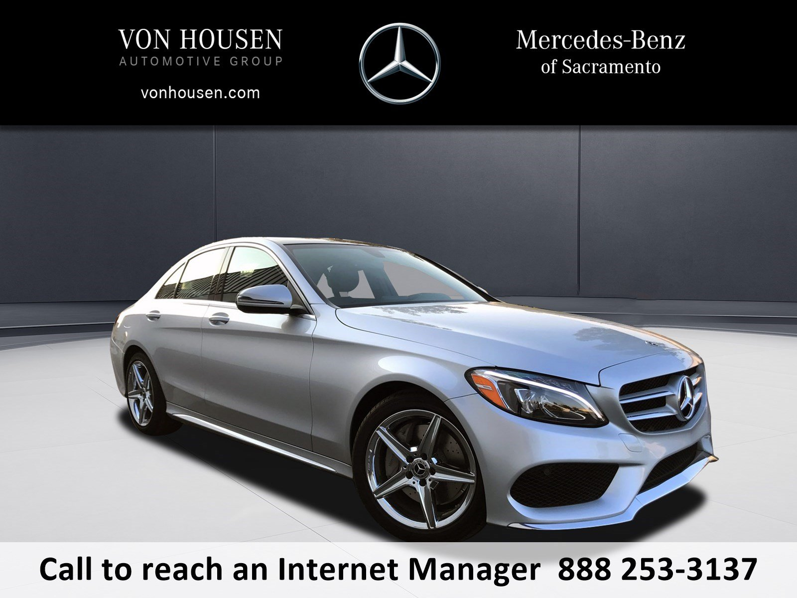 New 2018 mercedes benz c class c 300 sport sedan in for Mercedes benz service sacramento