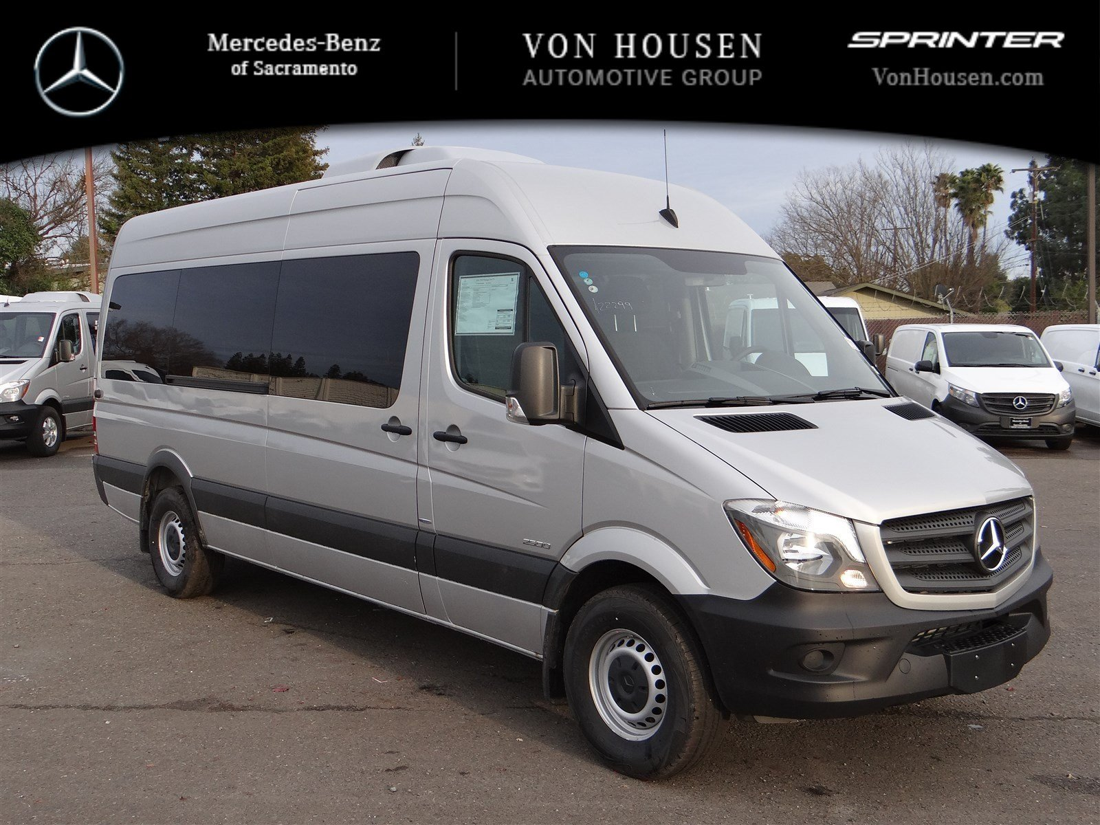 New 2016 mercedes benz sprinter passenger van m2pv170 full for Mercedes benz 7 passenger