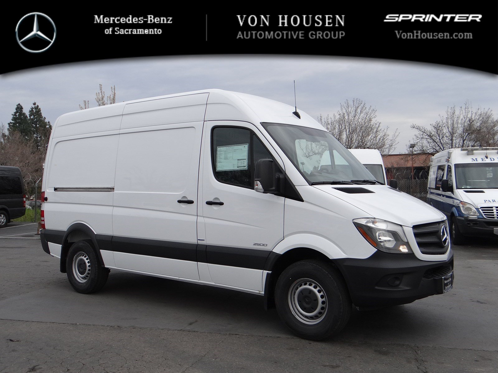New 2016 mercedes benz sprinter cargo van m2ca144 full for Mercedes benz service sacramento